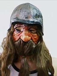 longue barbe nain avec un masque casque de latex pour Halloween