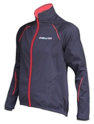 Realtoo® Unisex Fleeced Windproof And Waterproof Long Sleeve Cycling Jackets-Black + Red
