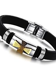 z&Mode Persönlichkeit Titan Stahl Silikon zehn Form Armbänder x® Mannes