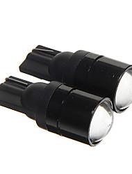 t10 1.5w épi 120lm 6000-6500K lumière blanche froide ampoules LED pour instrument de voiture / feu de position latérale (DC12V 2pcs)
