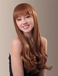 Full Bangs Sweet Princess Temperament Curly Long Hair Wigs
