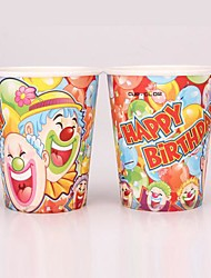 Coway 50PCS Happy the Clown Party Disposable Paper Cup Cartoon Environmental Protection