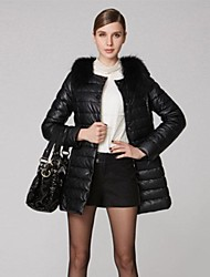 OSA®Women's Fur Collar Single Breasted Thicker Down Coat Outerwear