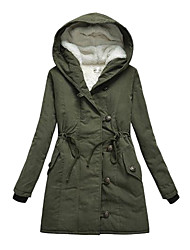 Women's Hooded Fleece Lined Cotton Pad Coat