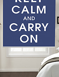 Philosophic Classic Words Keep Calm And Carry On With Blue Background Roller Shade