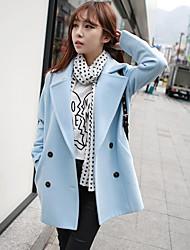 двойное пальто груди yilizi женщин