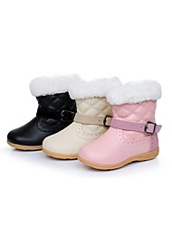 Girls' Comfort Flat Heel  Mid-Calf Boots Shoes More Colors available