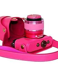 modèle en cuir dengpin® amovible de protection de boîtier de la caméra sac de couverture de mouton pour nikon J3 lentille 30-110mm