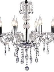 Max 40W Chandelier ,  Modern/Contemporary Electroplated Feature for Candle Style Metal Living Room / Bedroom / Dining Room