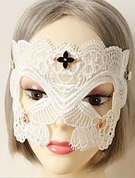 la moitié du visage main dentelle blanche masque de partie de Halloween