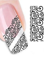 Water Transfer  Printing  Nail Stickers XF1339