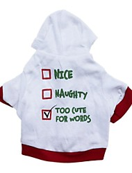 Lovely Letter Pattern with Hoodie for Pets Dogs(Assorted Size)