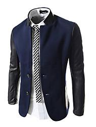 régler cuir moulante manches de style coréen costume pied de col de veste