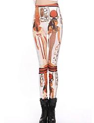 impresión fina costura leggings delgados de skymoto®women