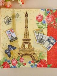 guardanapos padrão Torre Eiffel (conjunto de 20)