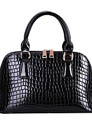 Jieshibo European Style Crocodile Pattern Tote  (Black)