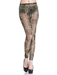 aimer les pantalons de gaze de mode de l'étrier de even® femmes (camouflage)