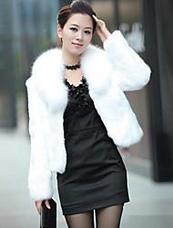 Coko&де женские зимние корейский имитация кролика и лисицы полупальто
