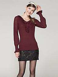OSA ® Women's Spring V-neck Lantern Sleeve Fashion Loose Sweaters