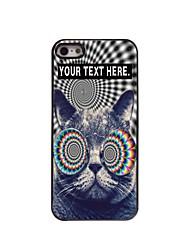 индивидуальный случай кошка дизайн корпуса металл для iPhone 5/5 секунд