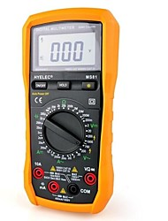2000Counts Digital Multimeter Amp Volt Ohm Capacitance Temperature Measuring Instrument MS81