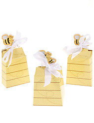 Gold Bees Design Wedding Favor Box-Set Of 12