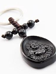 Duo Ji Mi ®Water Droplets Maitreya  Ebony Carving Keychain