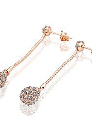 Earring Drop Earrings Jewelry Wedding / Party / Daily Copper / Gold Plated Gold / White