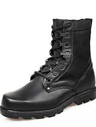 мужская обувь борьбы плоским пятки кожаные середины икры сапоги с шнуровке