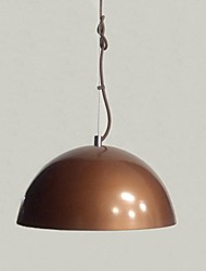 Contracted Design Rust-colored Pendant Light, 110-240 - v