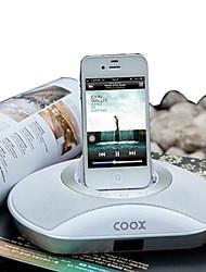 COOX m1 + portátil cobrando subwoofer docking station para o controle remoto para iphone4s / 5s / ipod