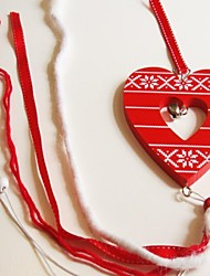 Christmas Hanging Red Love Heart Shape  Long 1 PC MDF Materiels for Christmas Decorations