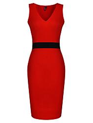 рукавов V-образным вырезом контрастного цвета тонкие платья vicone женские