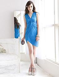 Women's Blue/Red/Yellow Dress , Sexy/Casual/Work Sleeveless