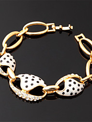 nova bonito ouro 18k esmalte feminino banhado a pulseira de cristal do cristal de rocha de alta qualidade