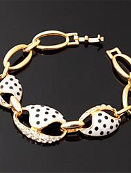neue nette Emaille Frauen 18k vergoldet Armband Armreif Qualität Rhinestonekristallgroßhandelsart