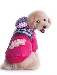 Mäntel für Hunde Blau / Rosa Winter S / M / L / XL / XXL Baumwolle / Terylen