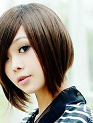 Women's Lady's Short  Vogue Brown Straight Synthetic Mix Wigs