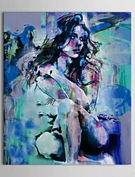 Картина маслом iarts® прохладный тон люди приседают вниз голая красота с вытянутой рамкой, расписанной вручную на холсте