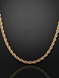 60cm,8mm,Rose Gold Plated Thick Chunky Figaro Chain Men's Swirl Chain Necklace,Lobster Clasp