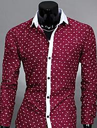 air moulante de style coréen couleur de contraste chemise à manches longues