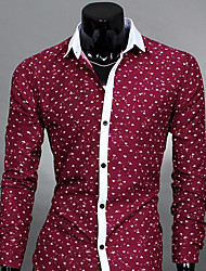 TUNE Korean Style Bodycon Contrast Color Long Sleeve Shirt