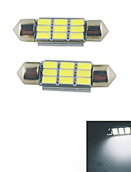 Carking ™-Girlande 36mm-5630-9SMD Auto-LED-Lampe Rom White Light (12V/2PCS)