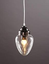 Pendant Lights 1 Light Rustic Style Nickle Glass