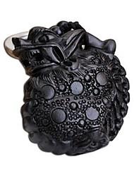 Duo Ji Mi ®Big Circle The Mythical Wild Animal Ebony Wood Keychain