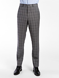 Gray 100% Wool Tailored Fit Pant