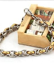 herenmode persoonlijkheid joker goud titanium staal handmatige armbanden