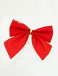 12 pz decorazioni natalizie da appendere ornamenti nodo a farfalla (l = 6 centimetri)