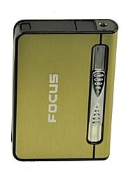 Automatic Ejection Butane Lighter Cigarette Case(Random Color)