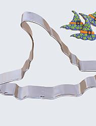 Halloween-Thema Hexenhut Form Cookie-Cutter, L x B 7,6 cm x H 7,6 cm 2,5 cm, Edelstahl